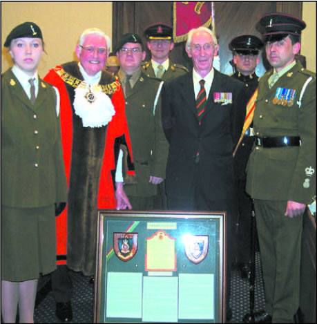 Mayor of Brentwood with members of the Essex Yeomanry